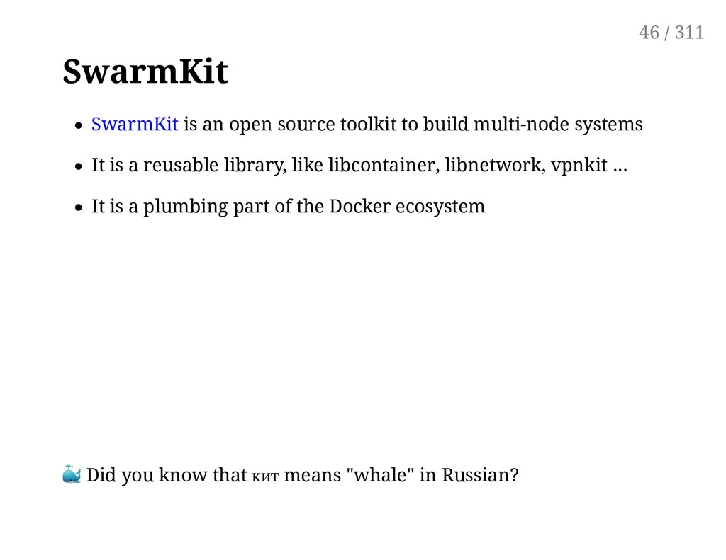 SwarmKit SwarmKit is an open source toolkit to ...