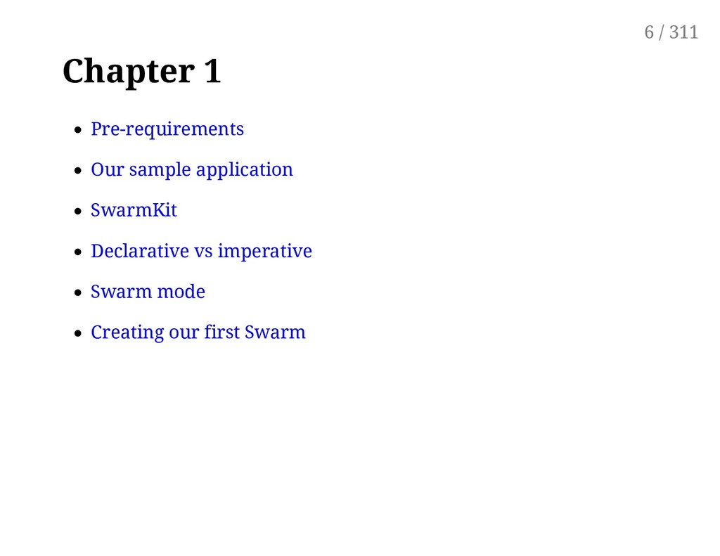 Chapter 1 Pre-requirements Our sample applicati...