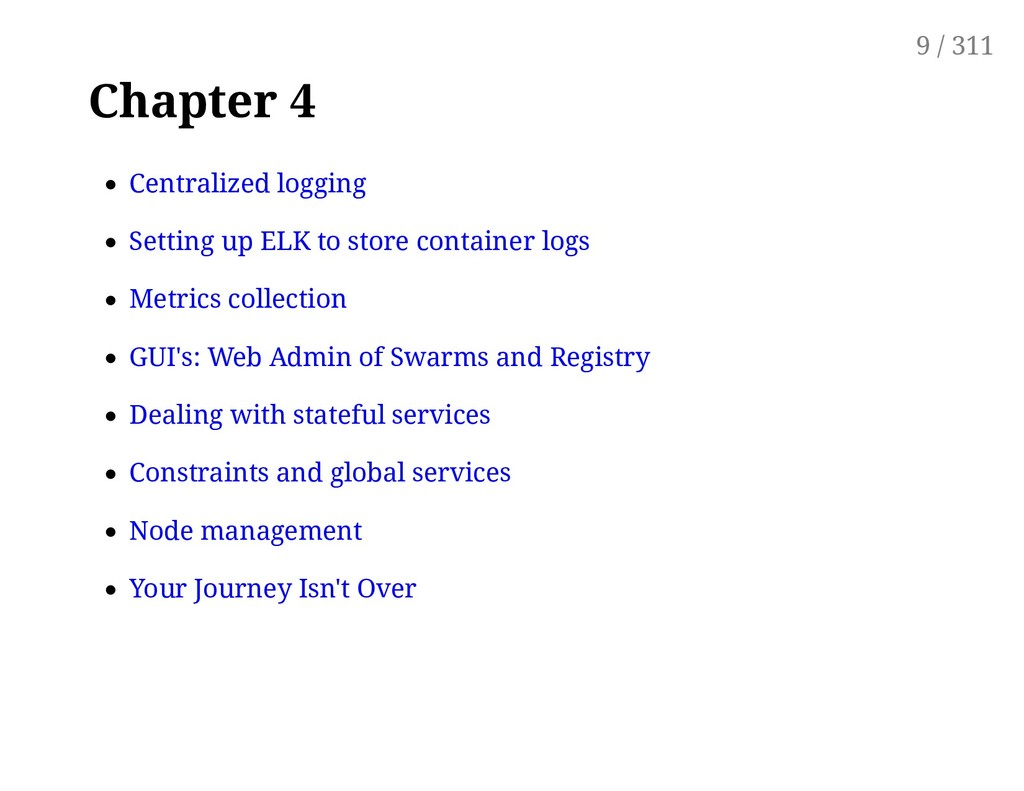 Chapter 4 Centralized logging Setting up ELK to...