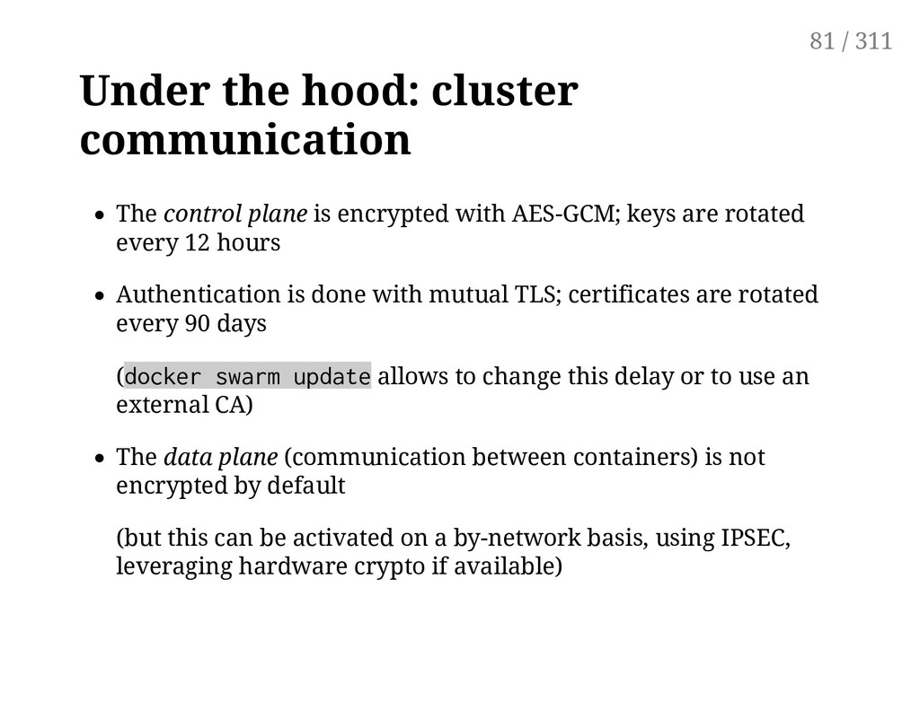 Under the hood: cluster communication The contr...