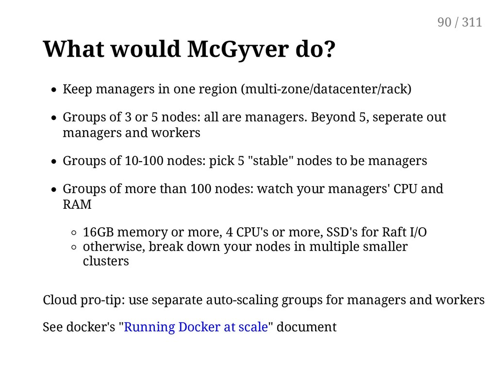 What would McGyver do? Keep managers in one reg...