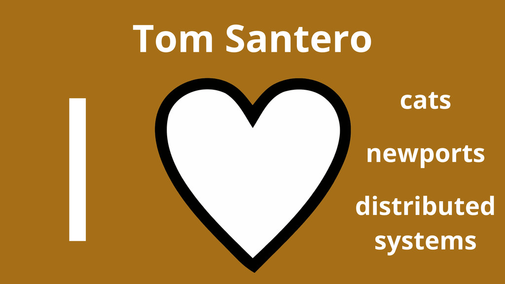Tom Santero cats I newports distributed systems