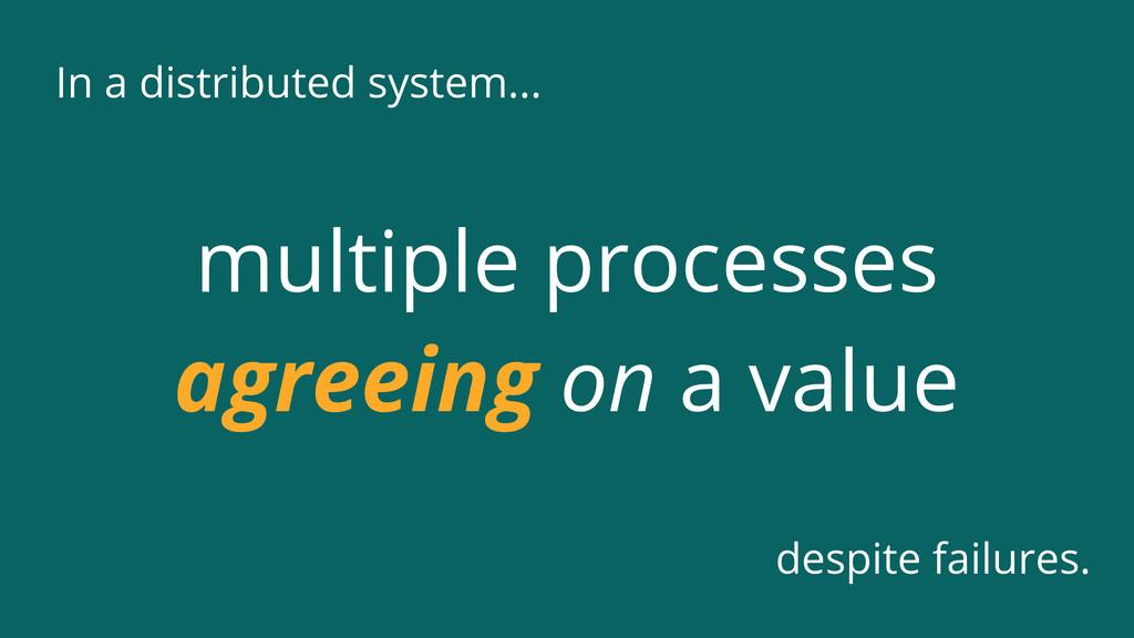 In a distributed system... despite failures. mu...