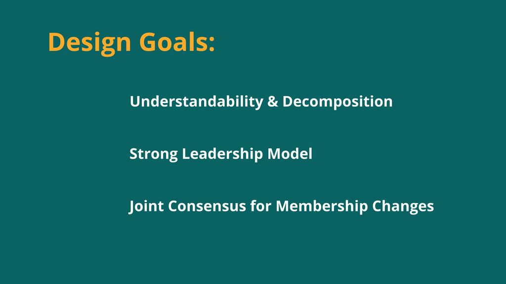 Design Goals: Understandability & Decomposition...