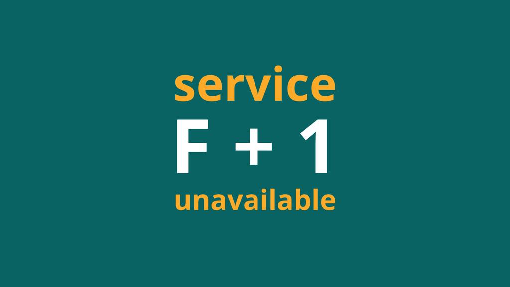 F + 1 service unavailable
