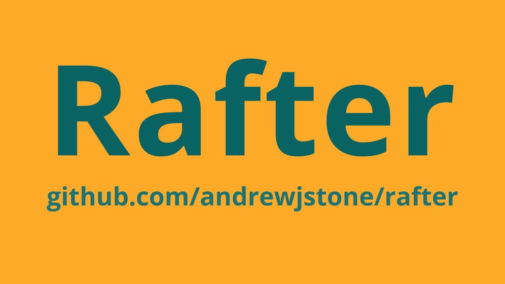 Rafter github.com/andrewjstone/rafter