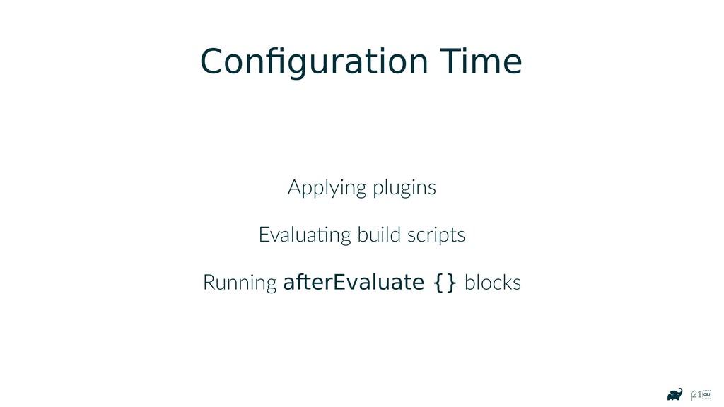 |21 Configuration Time Applying plugins Evalua...
