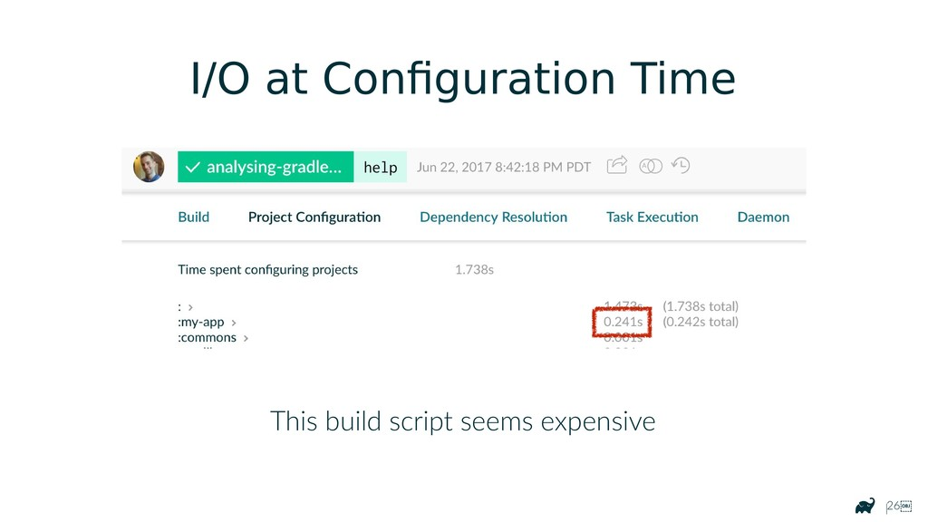 |26 This build script seems expensive I/O at C...