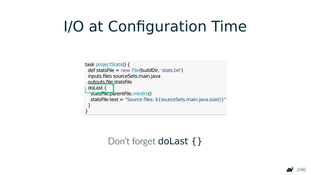 |28 I/O at Configuration Time task projectStat...