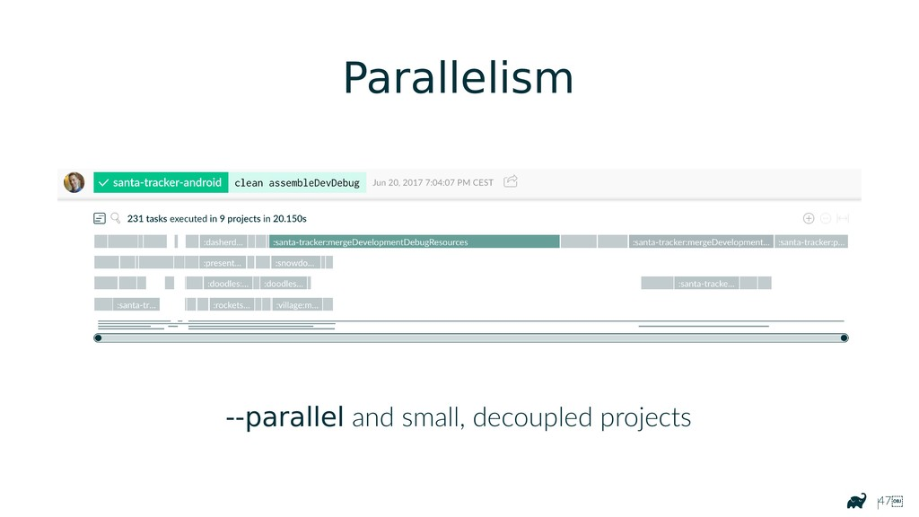 |47 Parallelism --parallel and small, decouple...