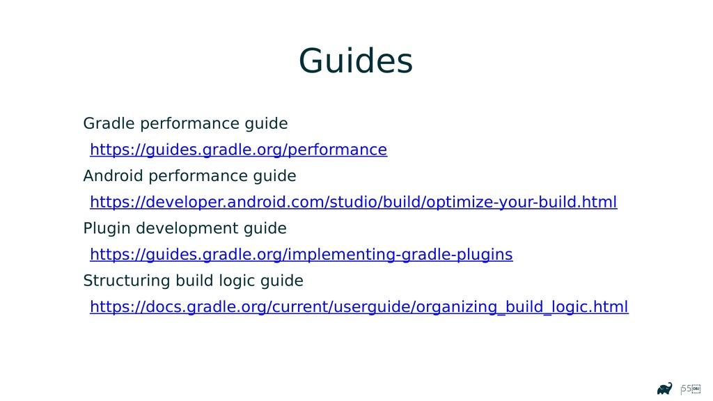 |55 Gradle performance guide https://guides.gr...