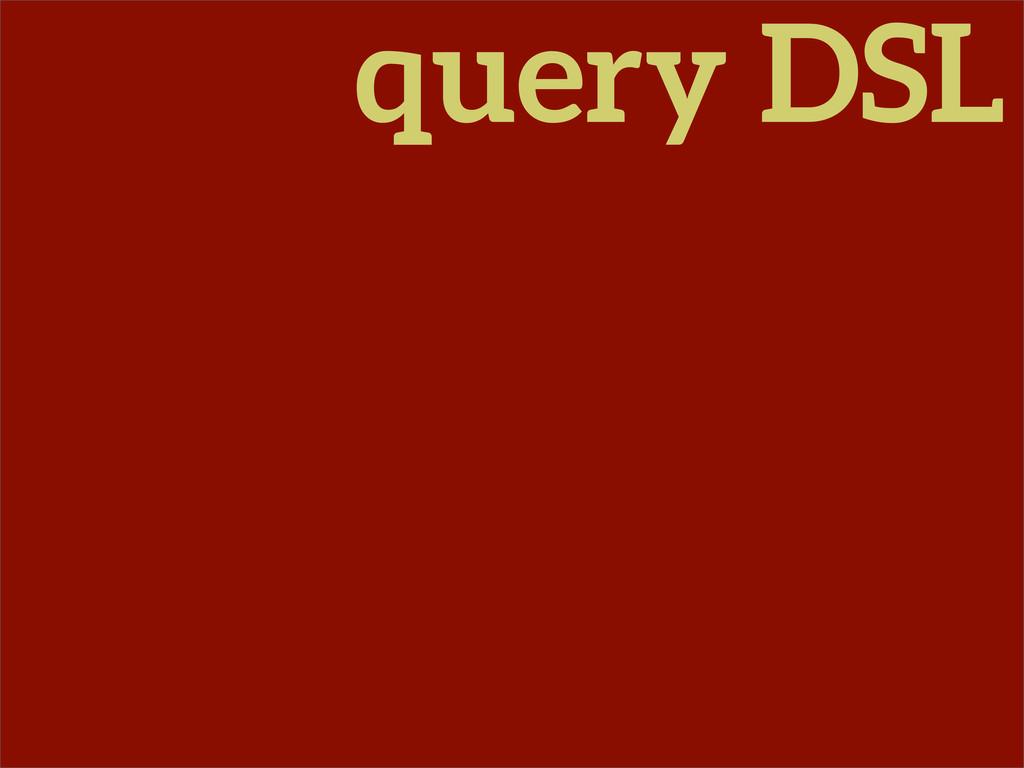 query DSL