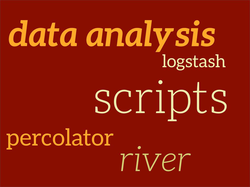 data analysis percolator logstash river scripts