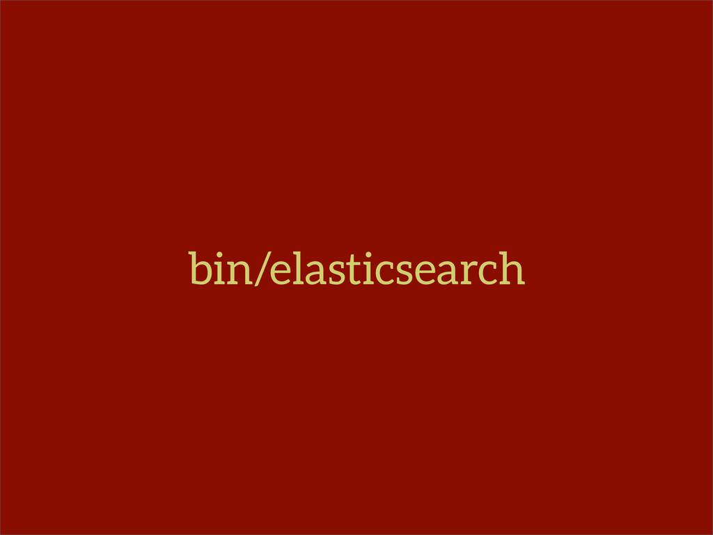 bin/elasticsearch