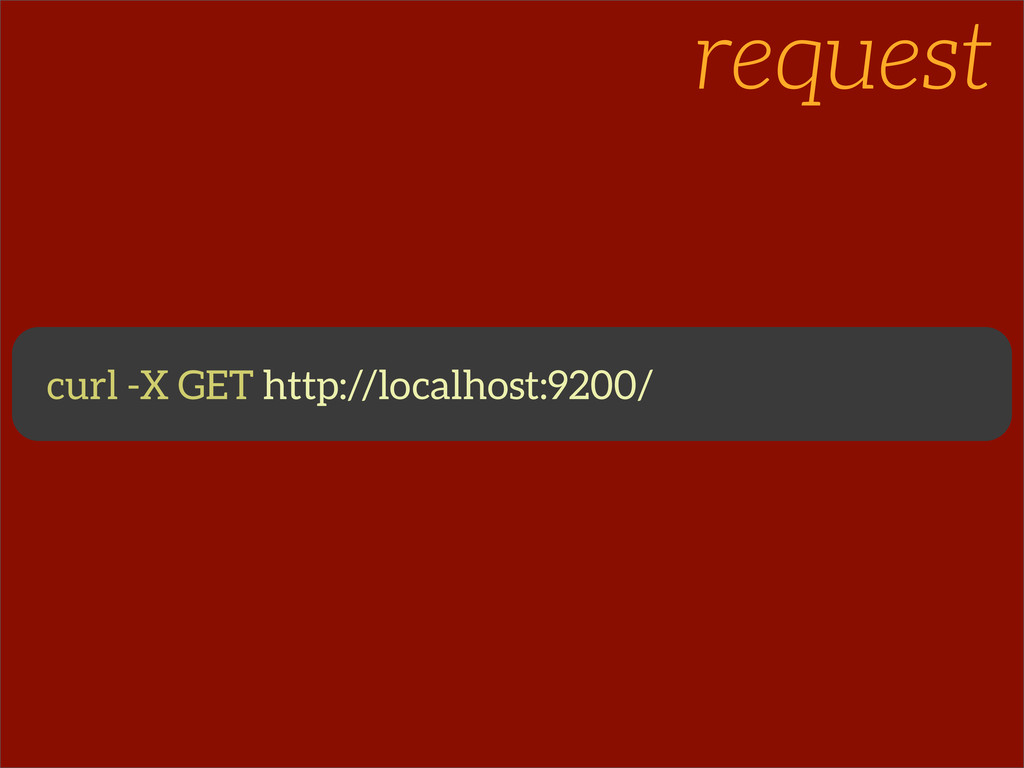 request curl -X GET http://localhost:9200/