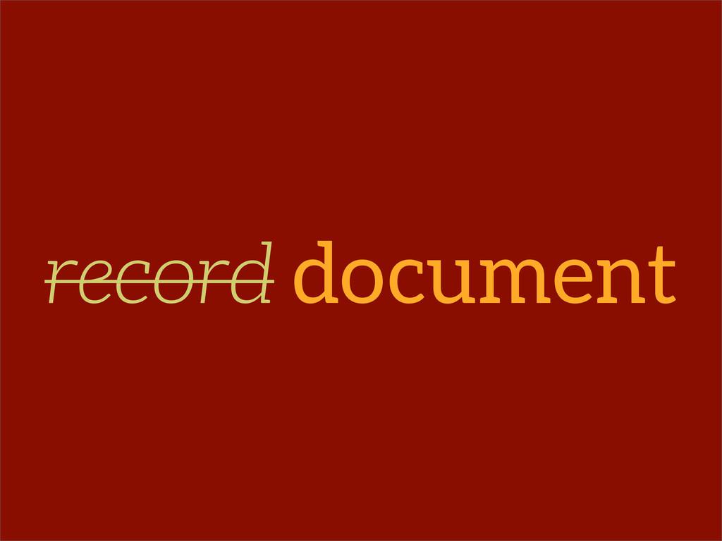 record document