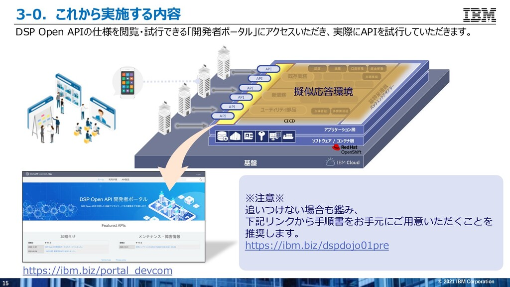 15 © 2021 IBM Corporation 3-0.これから実施する内容 DSP Op...