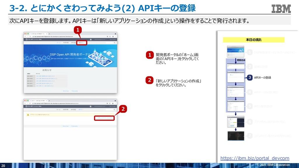 20 © 2021 IBM Corporation 3-2. とにかくさわってみよう(2) A...