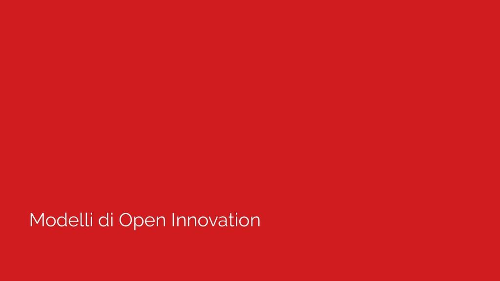 Modelli di Open Innovation