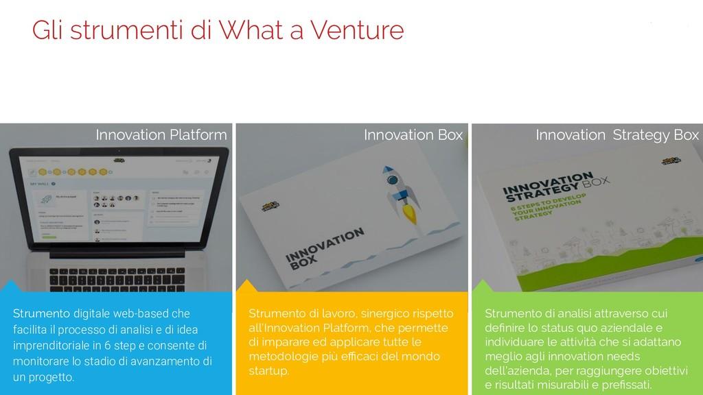 36 Gli strumenti di What a Venture Strumento di...