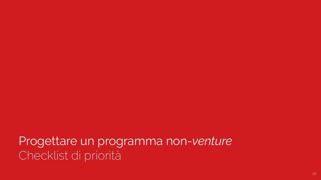Progettare un programma non-venture Checklist d...