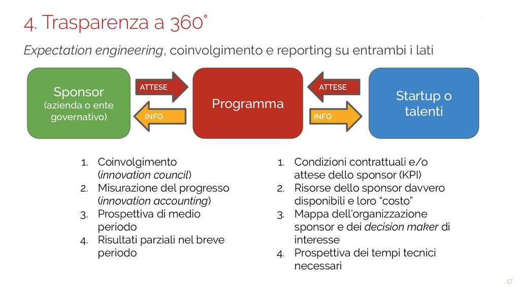 47 4. Trasparenza a 360° Expectation engineerin...