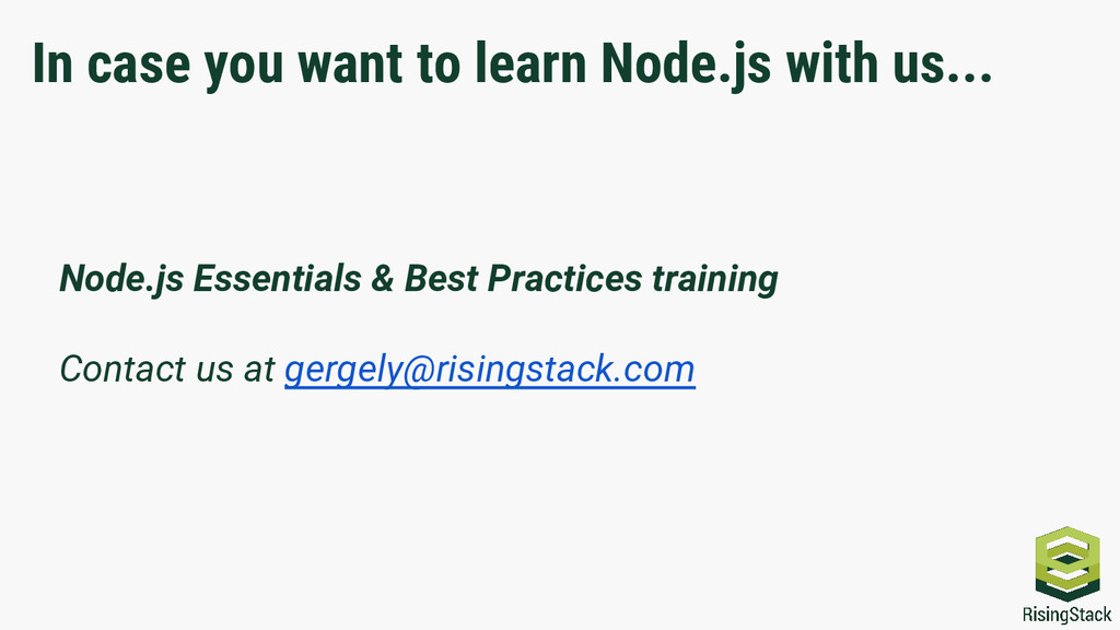 In case you want to learn Node.js with us... No...