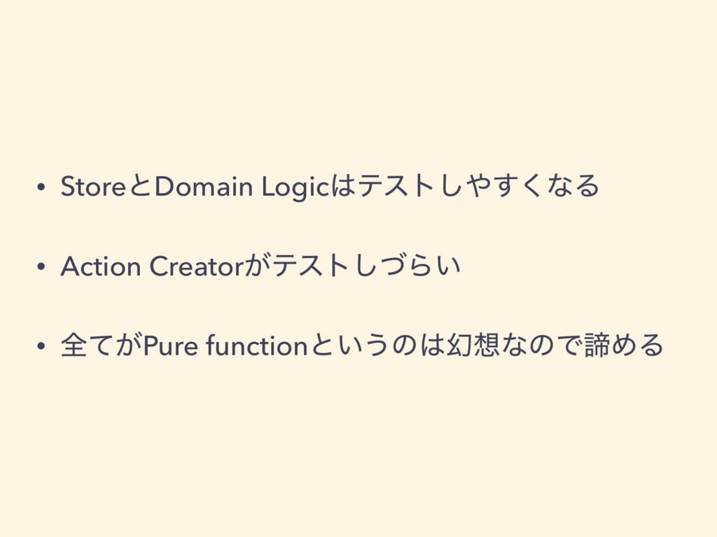 • StoreͱDomain Logicςετ͘͢͠ͳΔ • Action Creator...