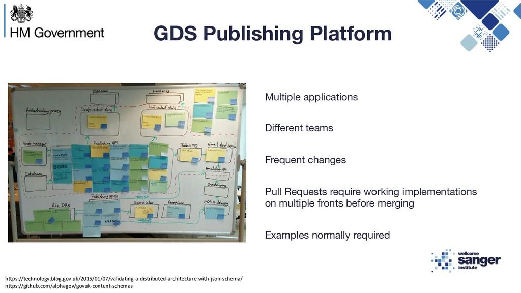 GDS Publishing Platform Multiple applications D...