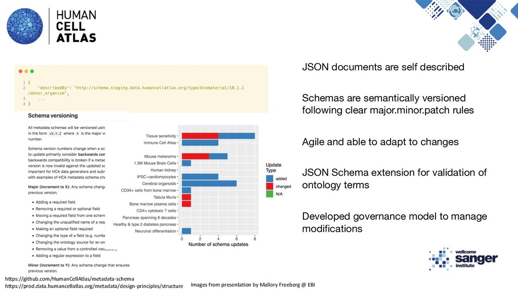 JSON documents are self described Schemas are s...