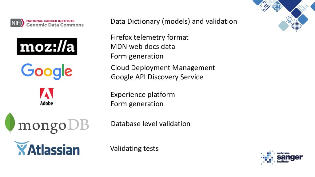 Data Dictionary (models) and validation Firefox...