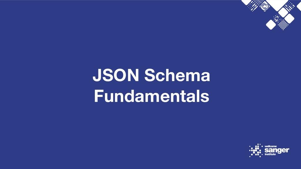 JSON Schema Fundamentals