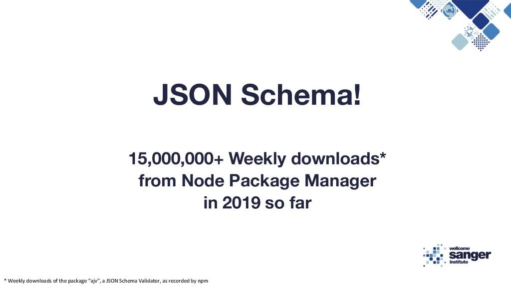 JSON Schema! 15,000,000+ Weekly downloads* from...