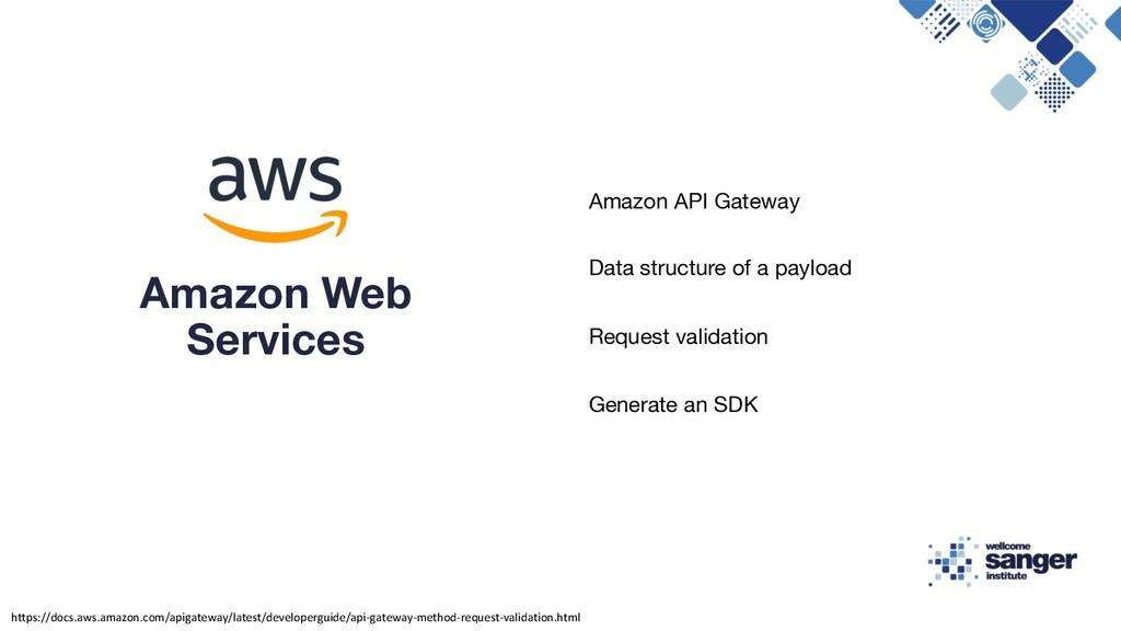Amazon API Gateway Data structure of a payload ...