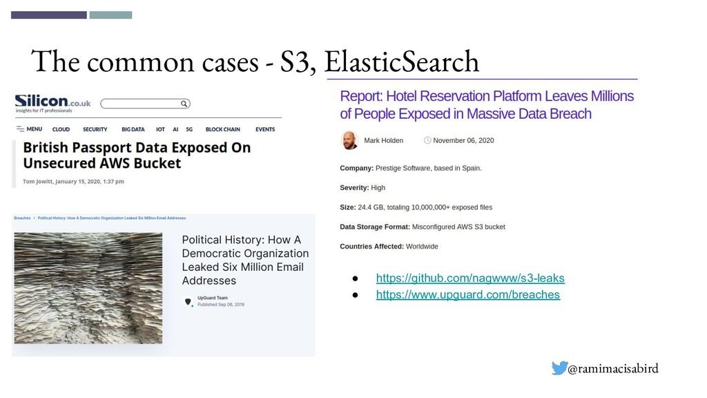 The common cases - S3, ElasticSearch ● https://...