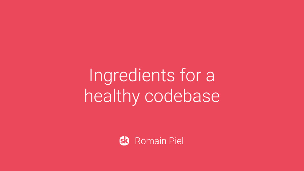 Ingredients for a 