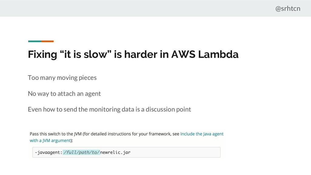 """@srhtcn Fixing """"it is slow"""" is harder in AWS La..."""