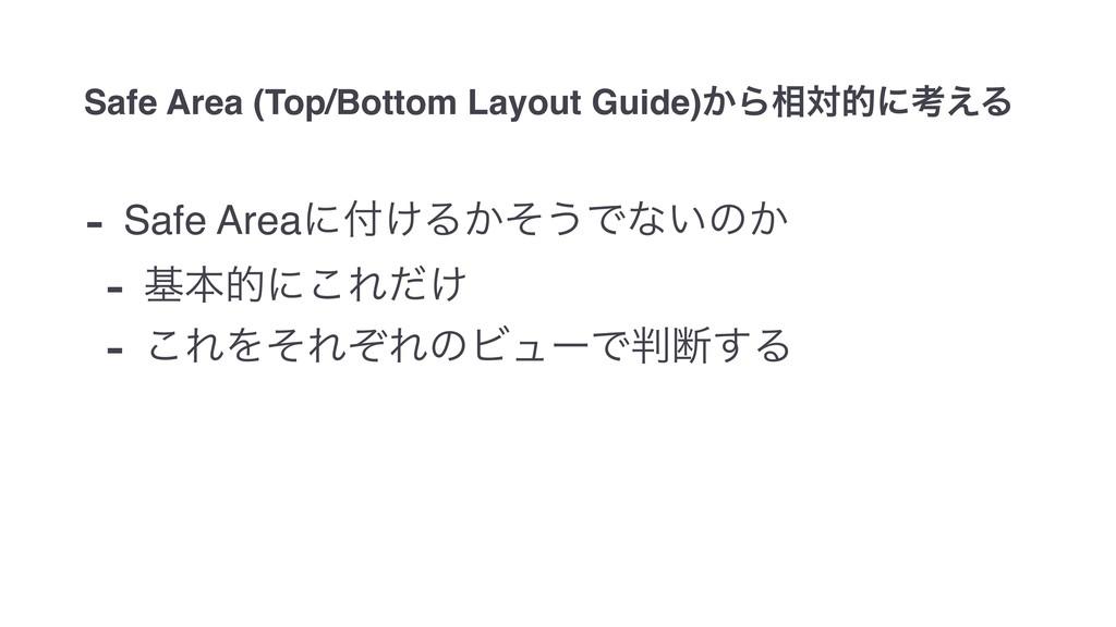 Safe Area (Top/Bottom Layout Guide)͔Β૬ରతʹߟ͑Δ - ...