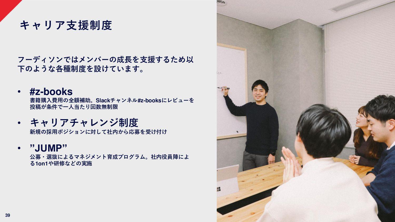 39 各世代が活躍しています 平均年齢 33.6歳 20代 36.0% 30代 44.0% 4...