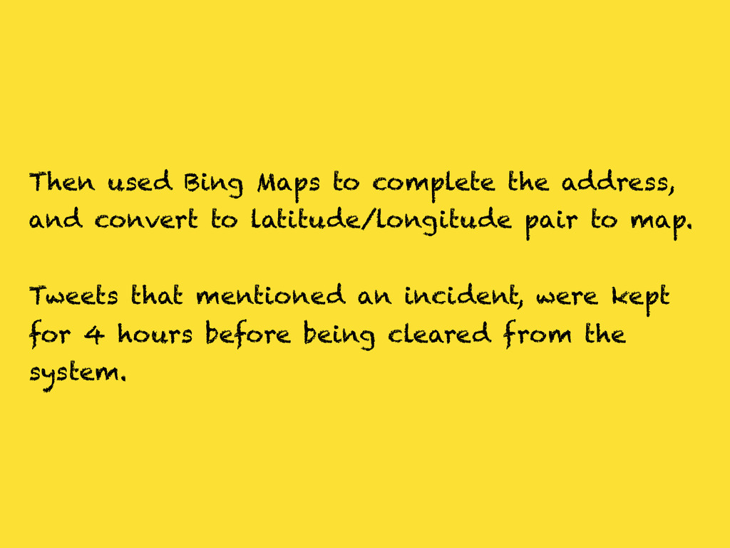 Then used Bing Maps to complete the address, an...