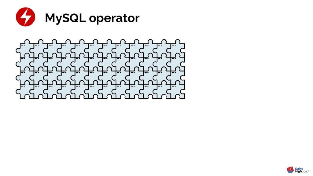 MySQL operator