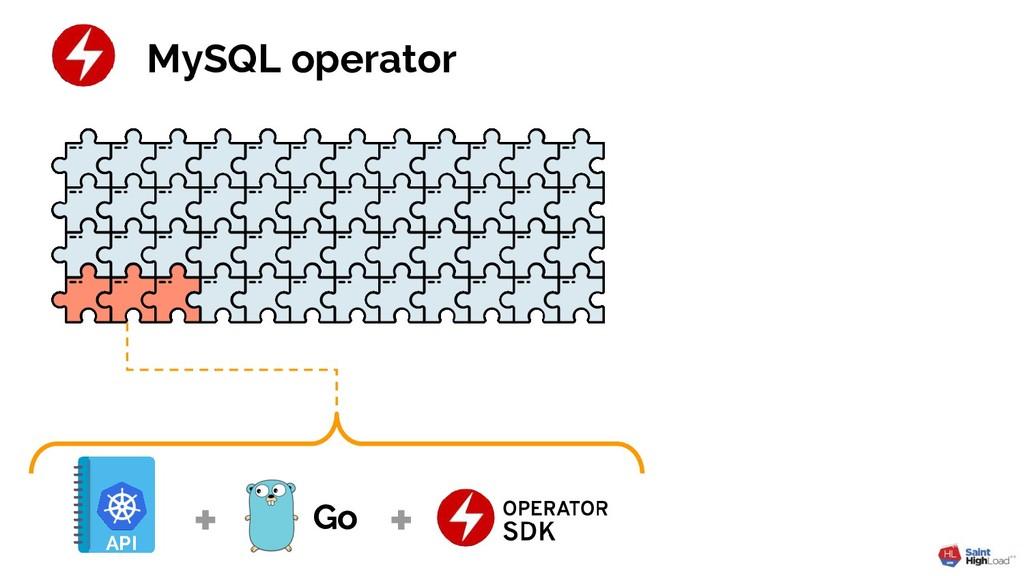 MySQL operator Go API