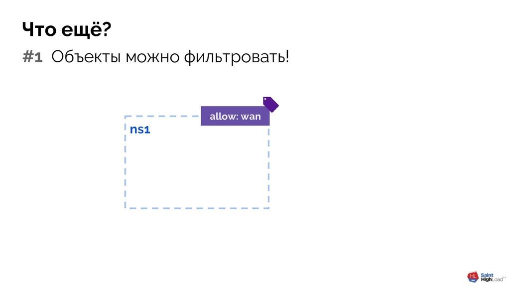 Что ещё? #1 Объекты можно фильтровать! ns1 allo...
