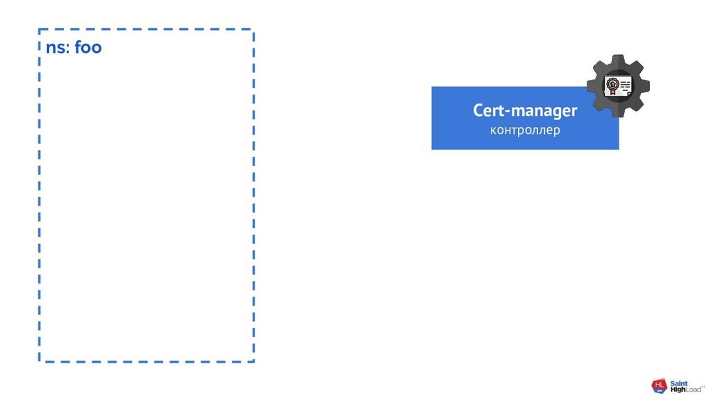 ns: foo Cert-manager контроллер