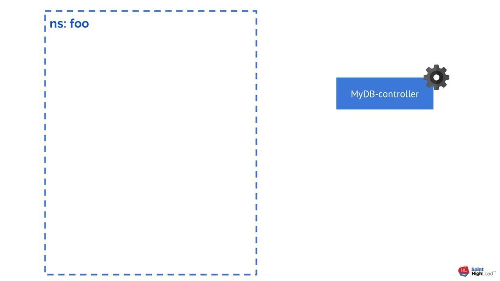 ns: foo MyDB-controller