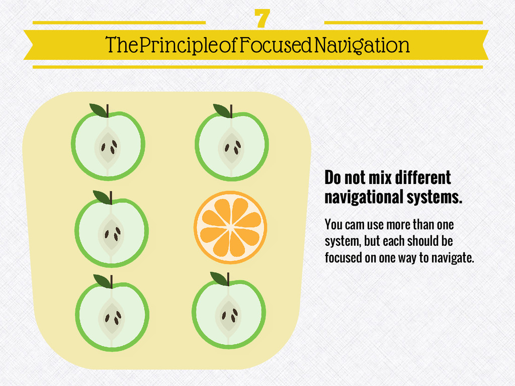 Do not mix different navigational systems. You ...