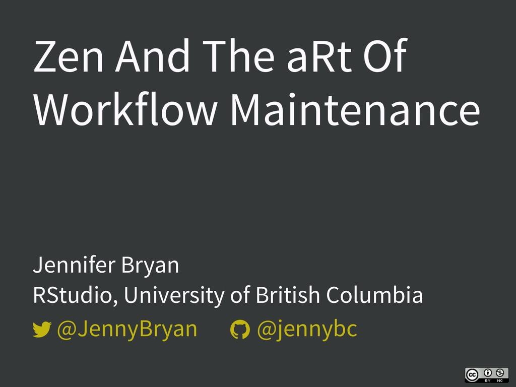   Zen And The aRt Of Workflow Maintenance Jen...