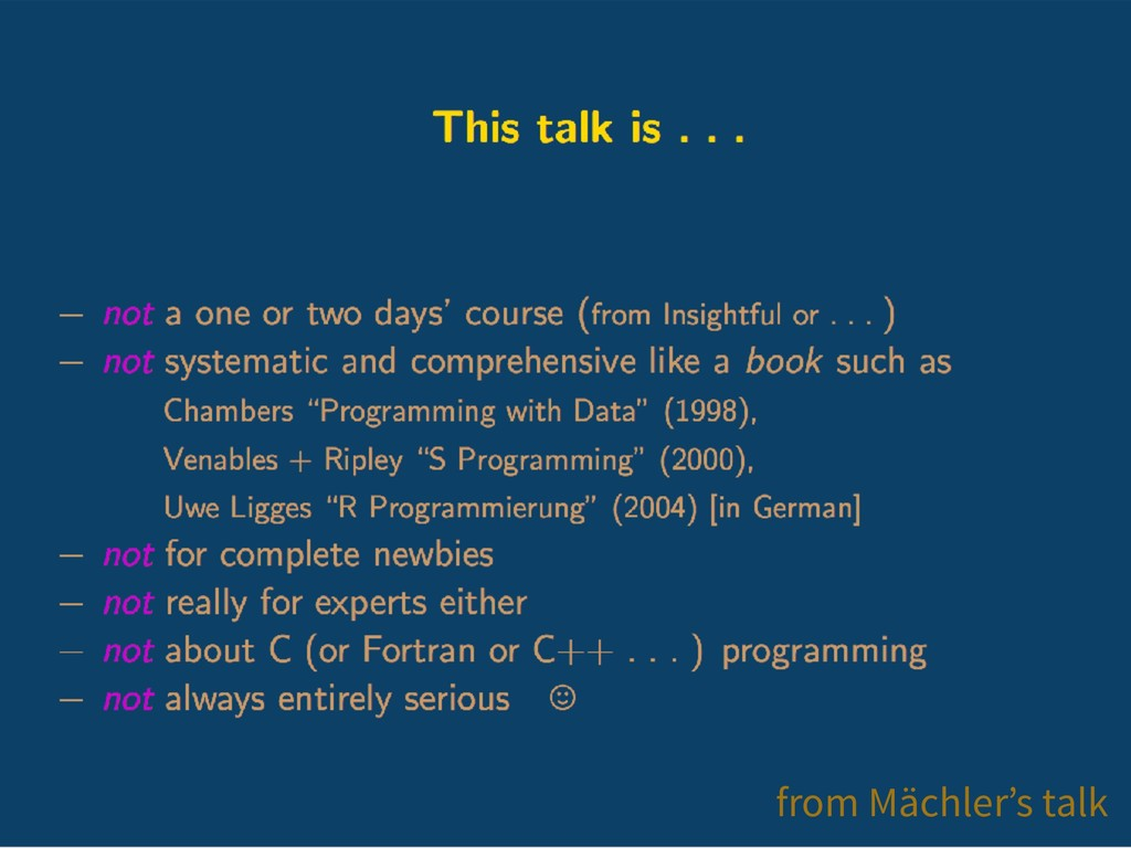 from Mächler's talk
