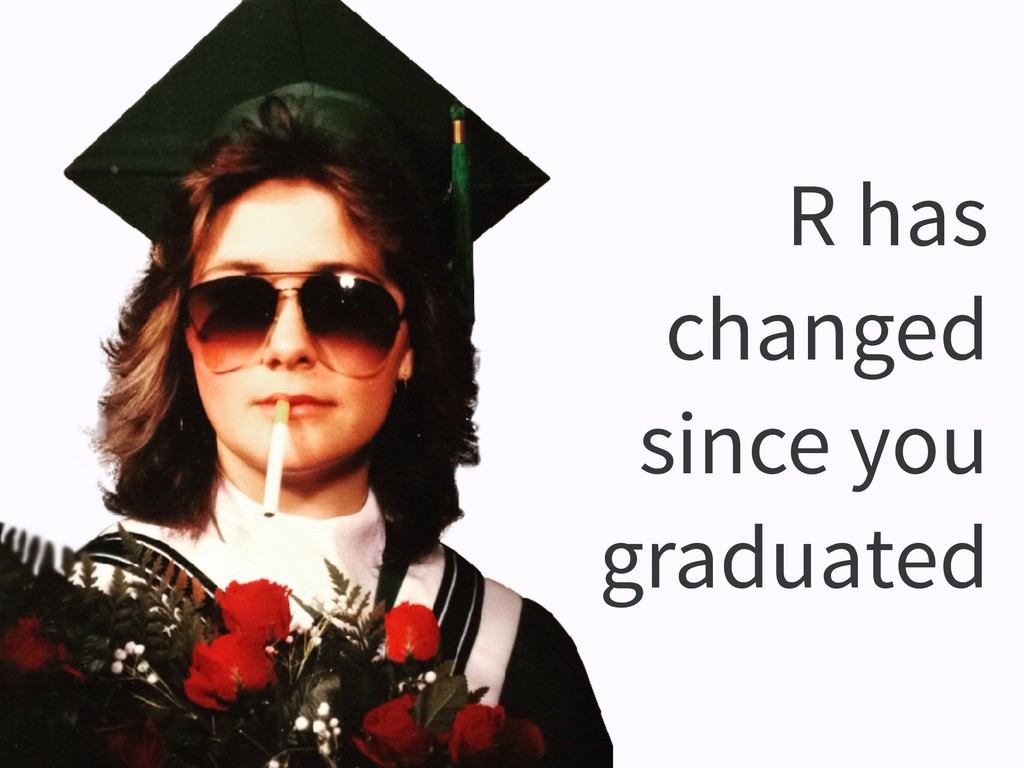 R has changed since you graduated