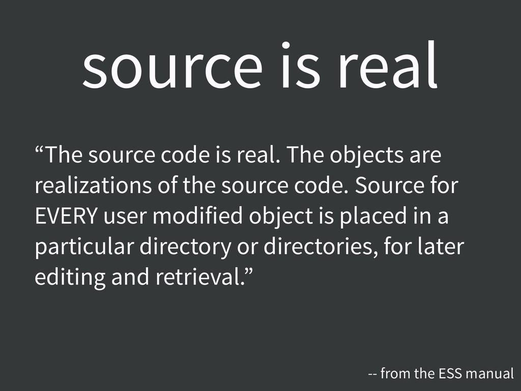 "source is real ""The source code is real. The ob..."